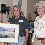 Dave Haas was a major supporter of the LP Chamber's photography contest. Seen here with his longtime companion Lynn Bunn and competition winner Bob Rice of Bishop at the awarding of the prizes in 2011.