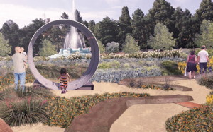 Image of future centennial garden.