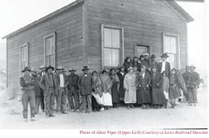 Alice Piper, upper left, filed suit and desegregated Big Pine School in 1924.