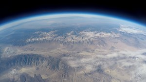 "This photo entitled ""wow"" is a photograph taken from one of the group's balloon launches depicting the Owens Valley as seen from the edge of space."