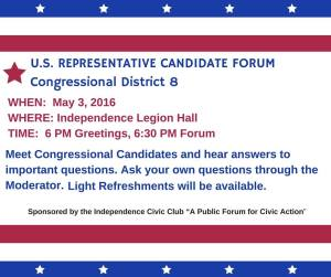 u.s. congressional candidates night