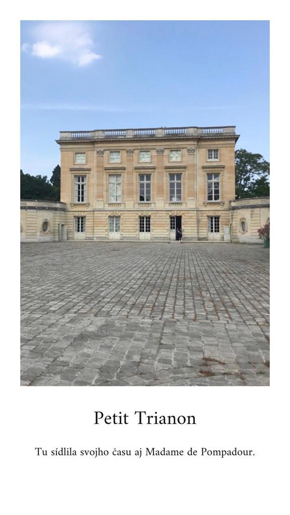 leto v Paríži Maly Trianon
