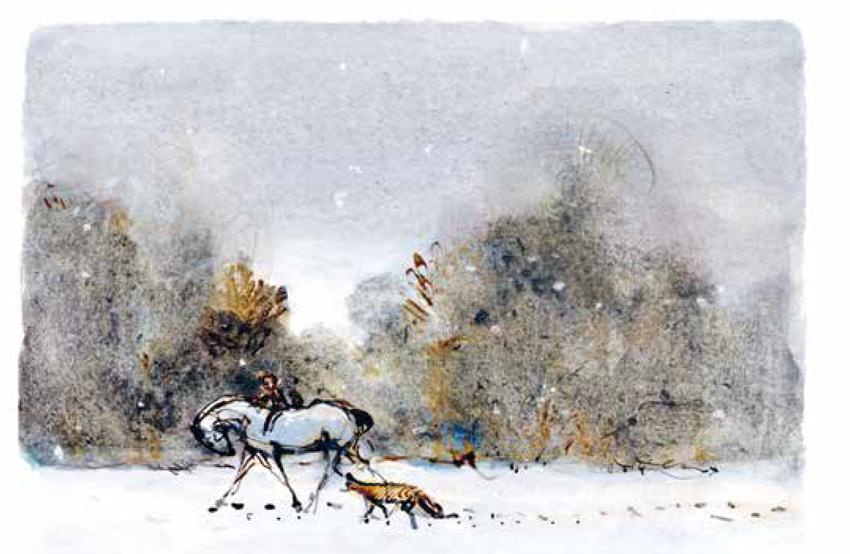 Chlapec krtko líška a kôň