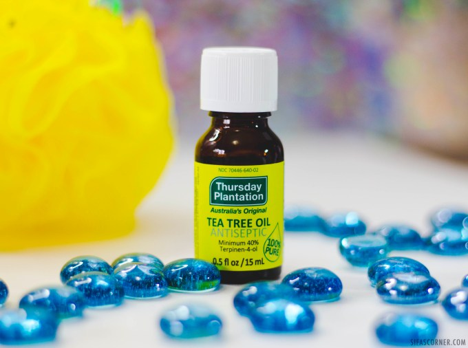 relaxing shower essential products- tea tree oil