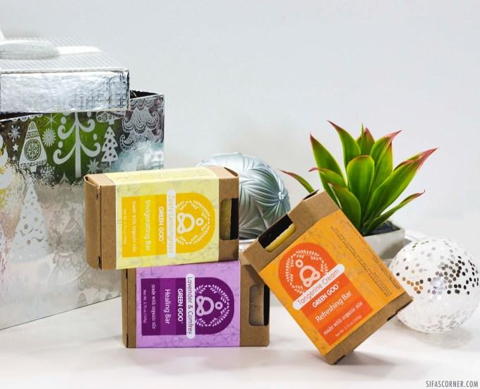 Natural Beauty Products Christmas Gift- green goo soap bar