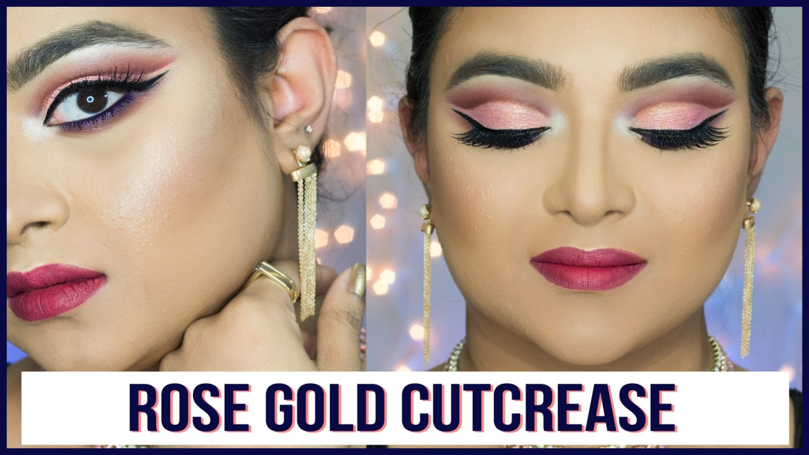 Rose Gold Cutcrease Makeup for Hooded Eyes