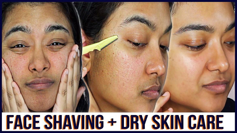 dry skin care-face shaving