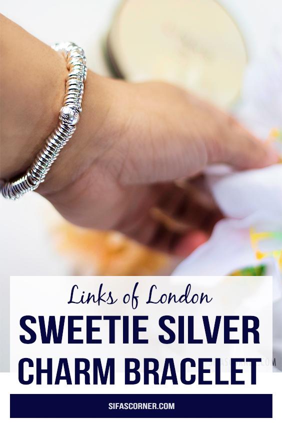 sweetie silver charm bracelet