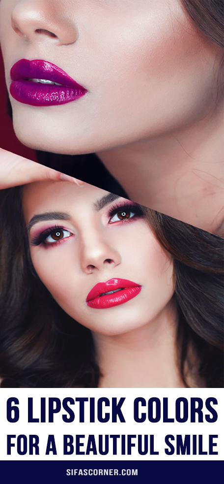 6 lipstick colors for beautiful white smile