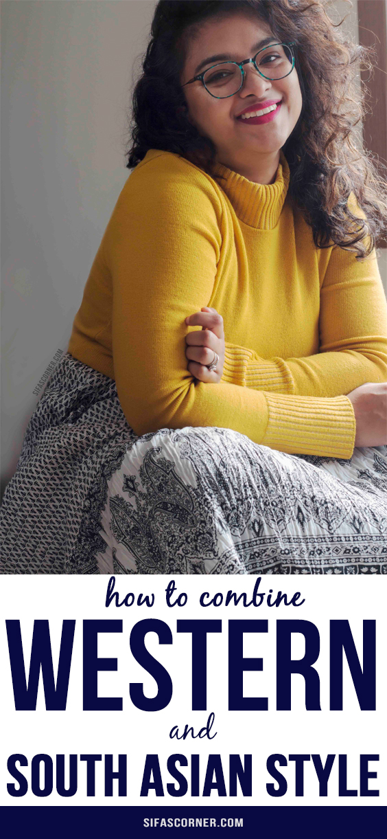 How to modest dress up mixing western and south asian/ indian style with Femme Luxe and Arcopedico shoes in the cold spring days-How to Combine Western and South-Asian Style-Sifa's Corner