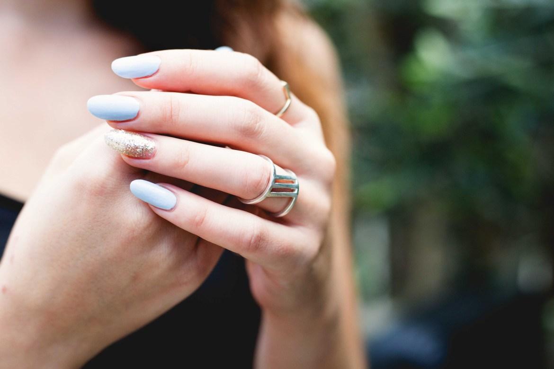 warm white nail