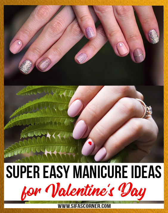 Easy Manicure Ideas for Valentine's Day