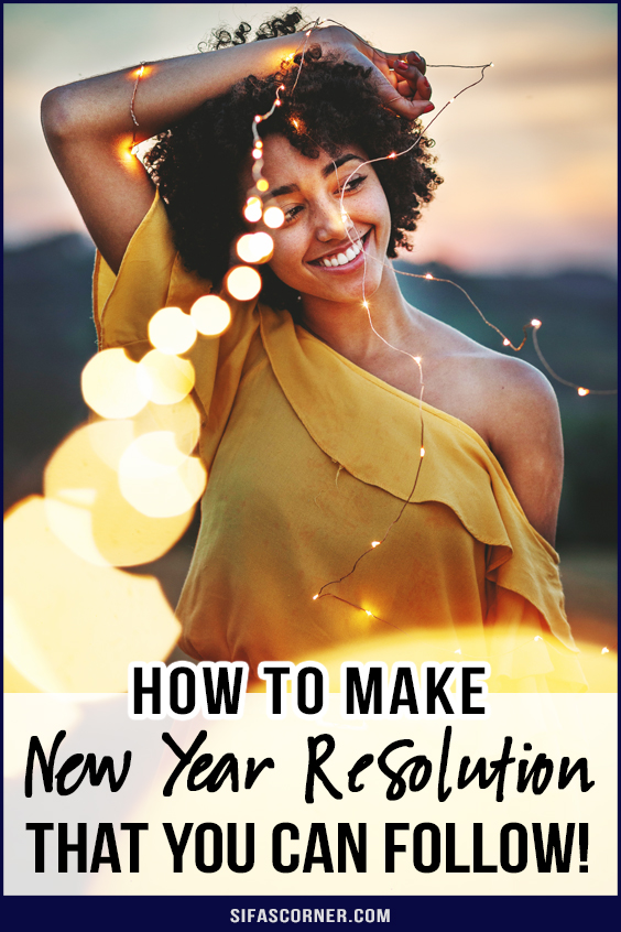 how to follow New Year's Resolutions