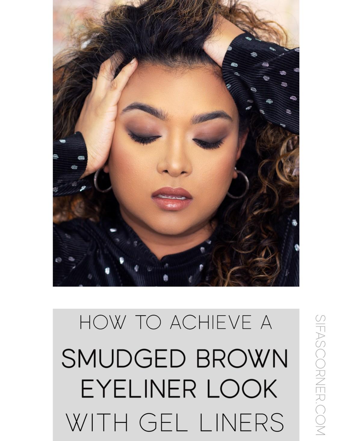 Smudged Brown Smokey Eyes