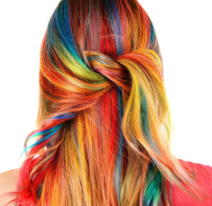 Bold Colours hair trend