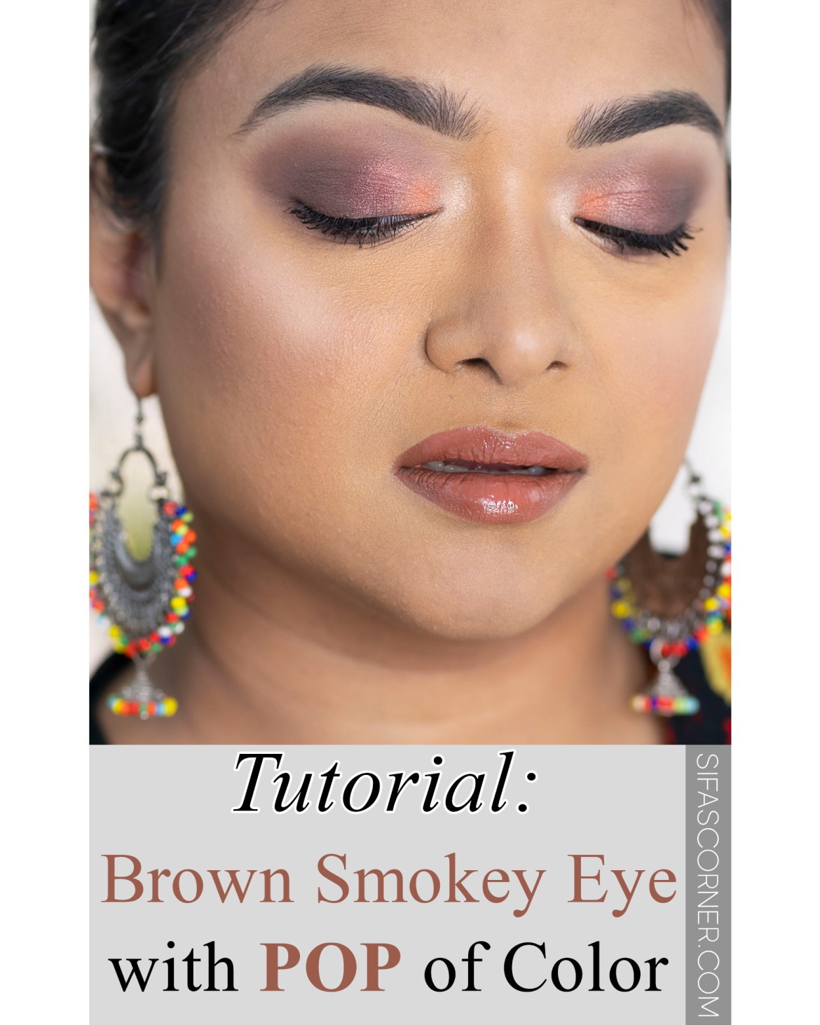 Brown Smokey Eye with Pop of Color