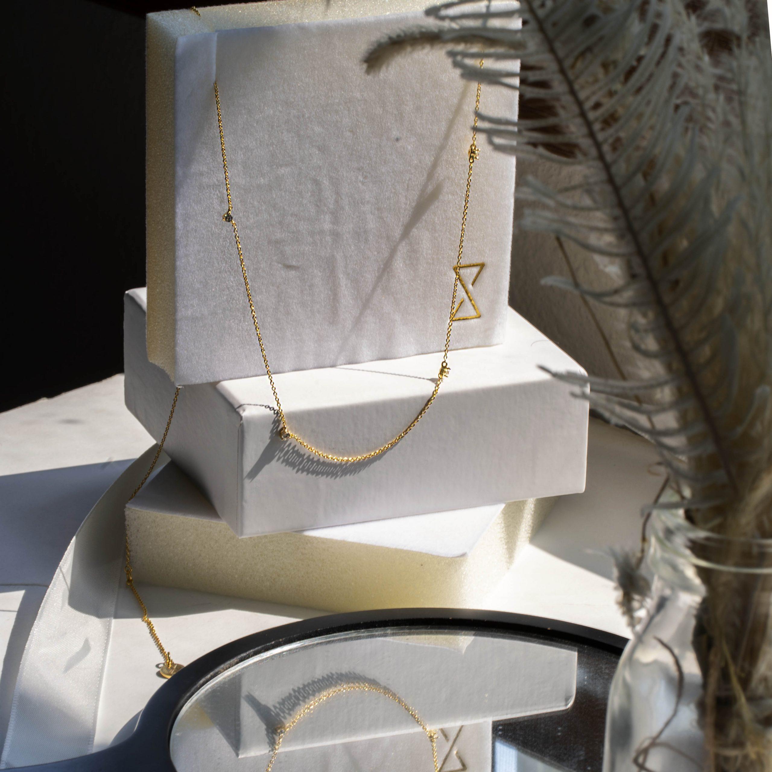Jules Six Bezel Necklace
