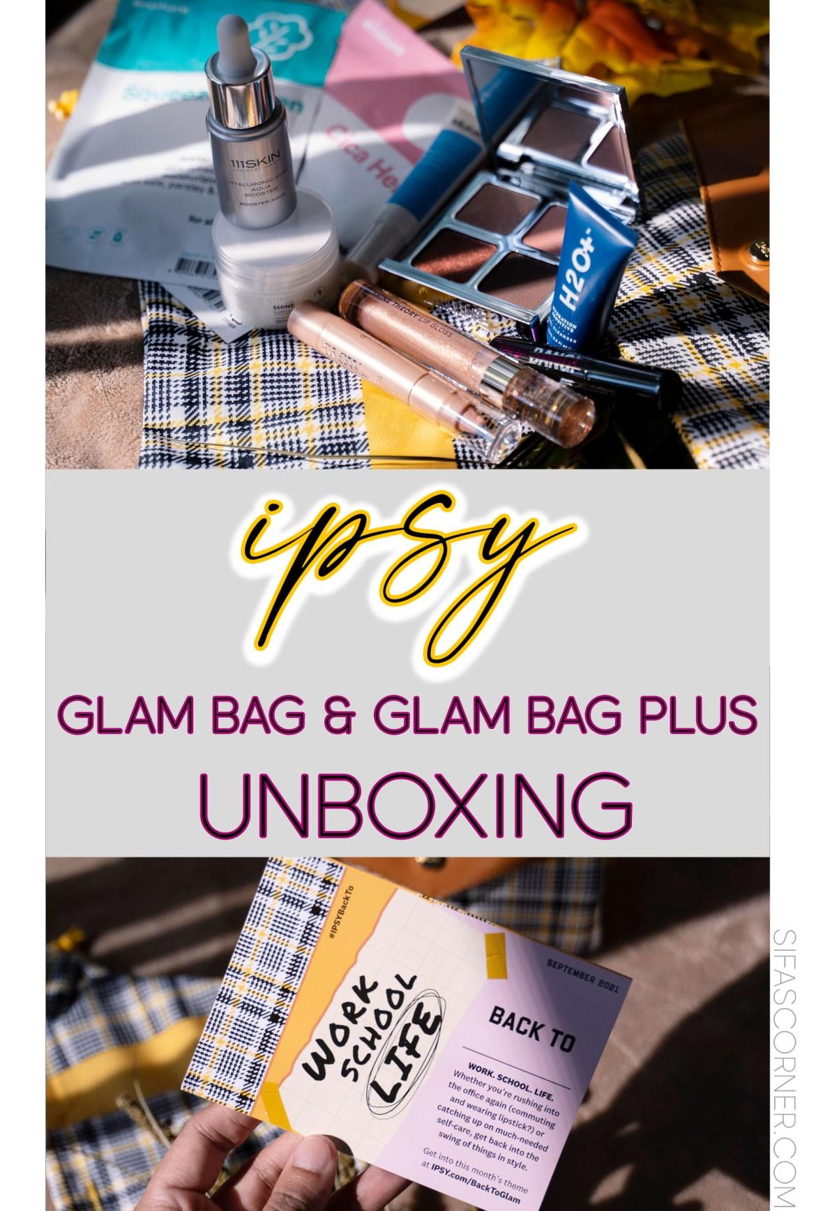 ipsy september glam bag glam bag plus