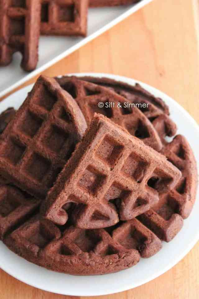 Chocolate Black Bean Waffles