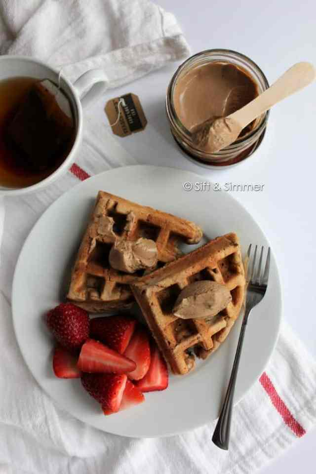 Earl Grey Milk Jam Spread Chickpea Peanut Butter Waffles1
