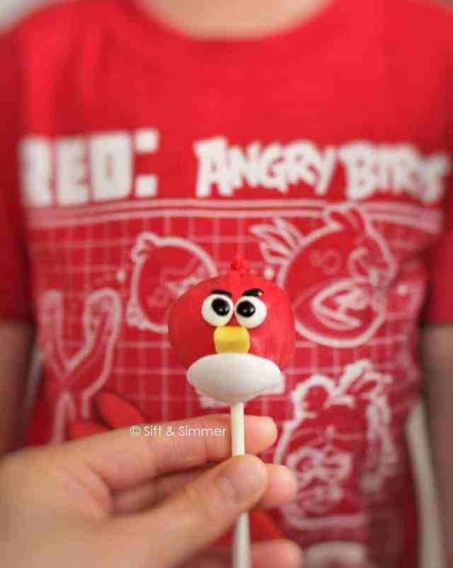 Angry Bird Cake Pop 3