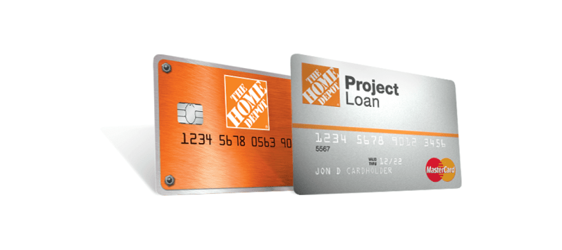 home depot consumer credit cards