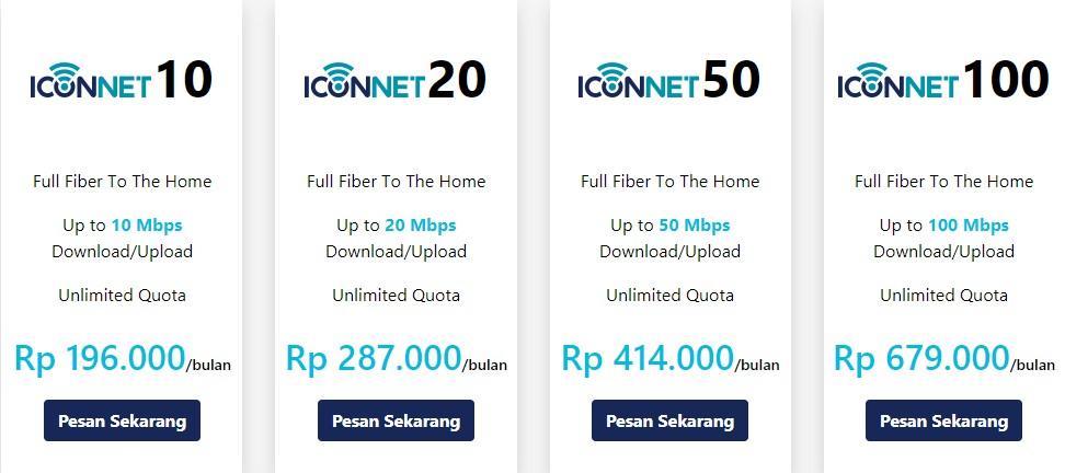 Daftar Harga Paket Internet Iconnect Indonesia Timur