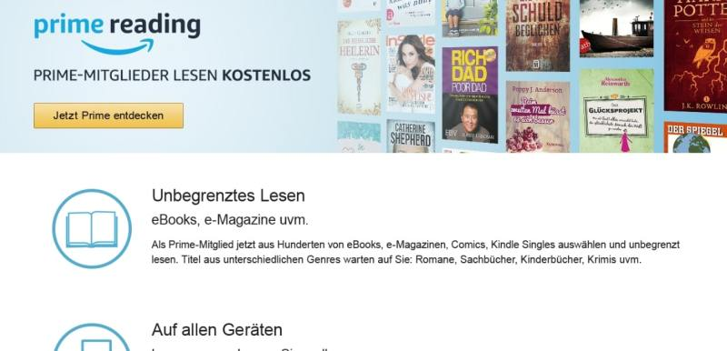 Read lots of books and magazines for free with Prime Reading