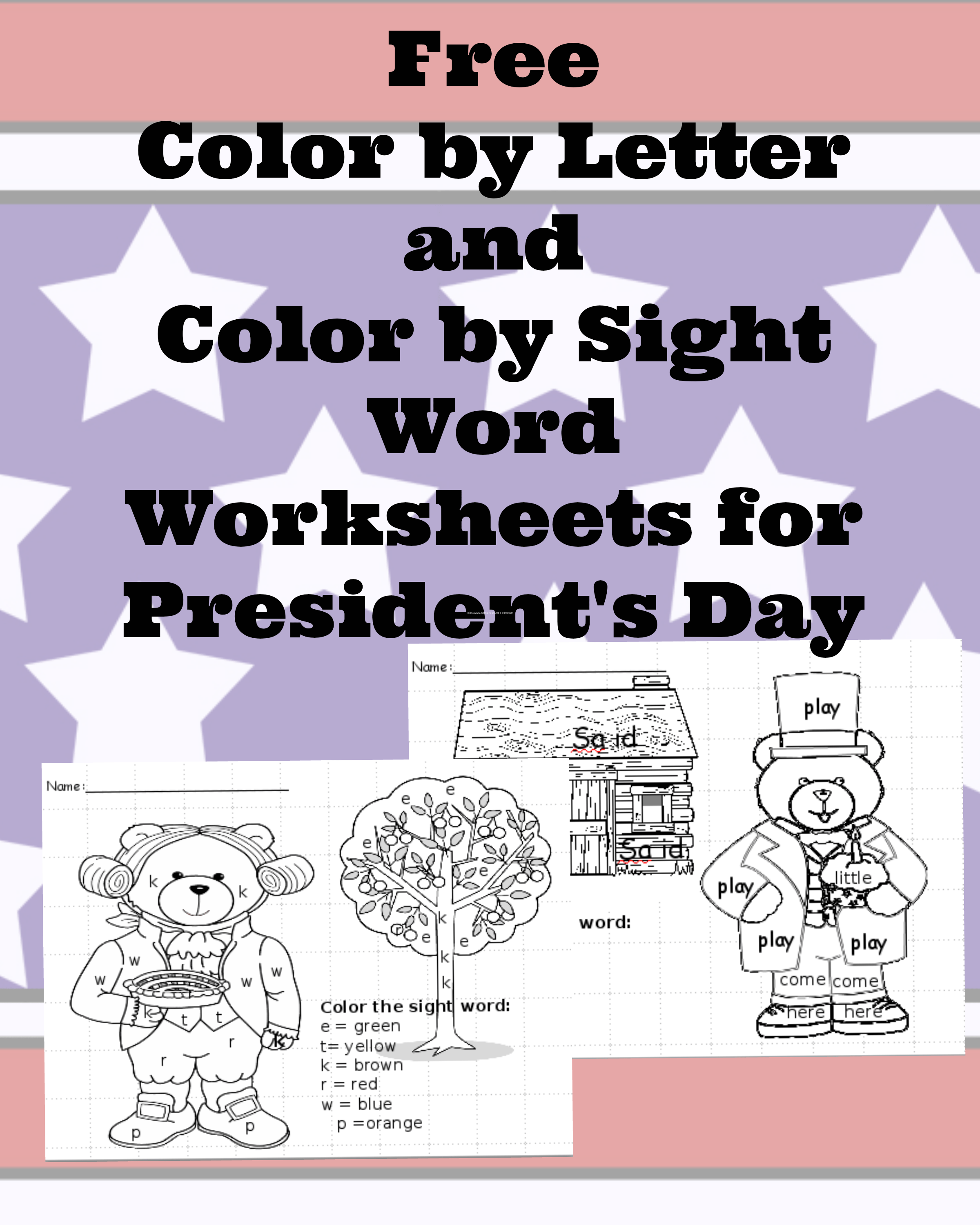 Presitents Worksheet