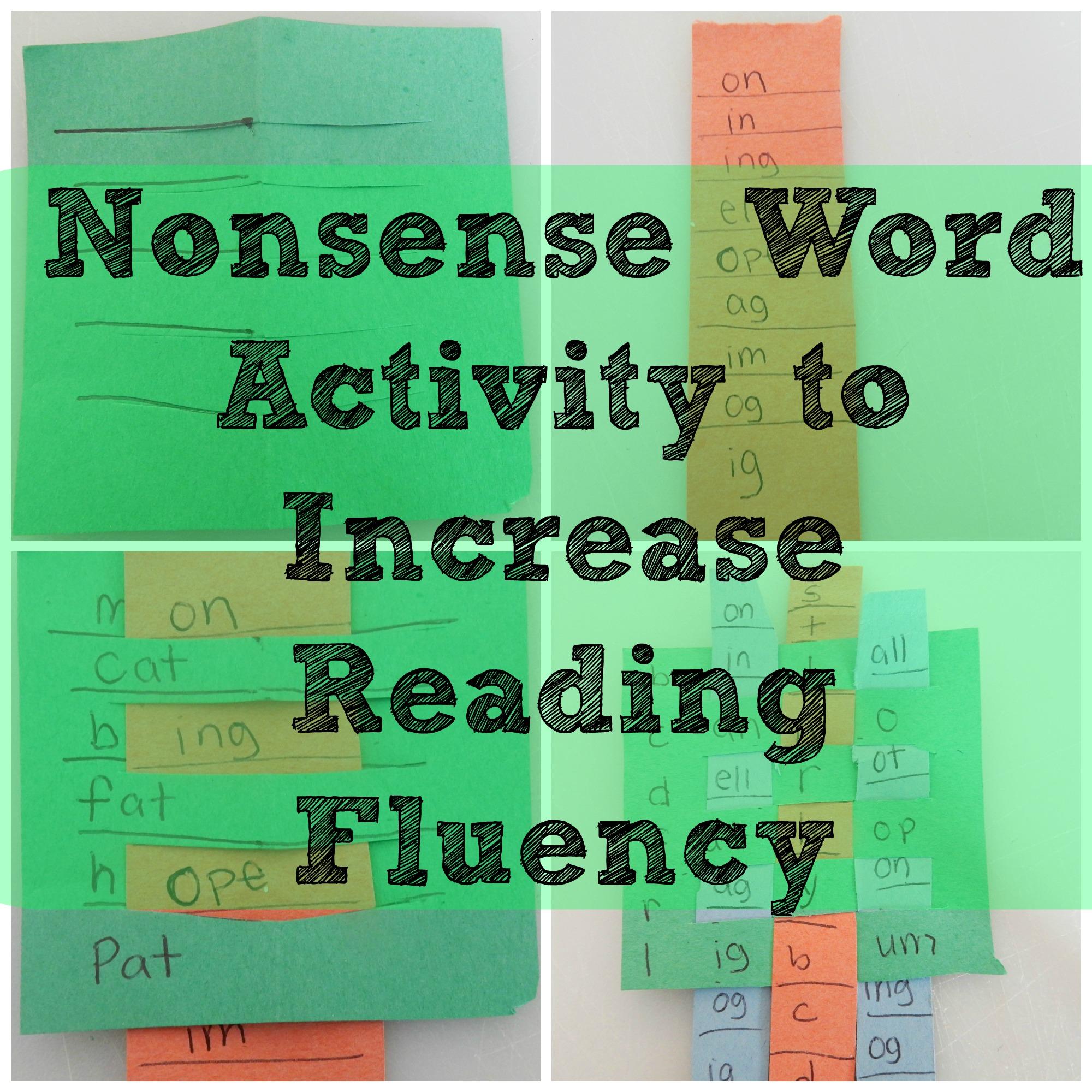 Nonsense Word Fluency Worksheet
