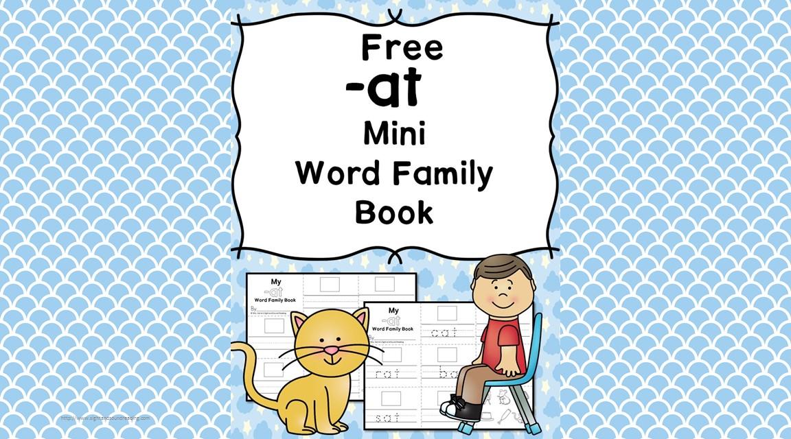 2 Free Cvc At Family Worksheets Make A Minibook