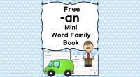 2 Free CVC AN Family Worksheets - Build a Mini-book!