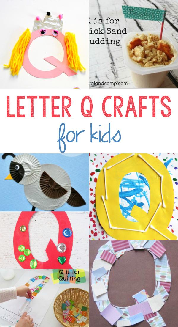 Letter Q Crafts For Preschool Or