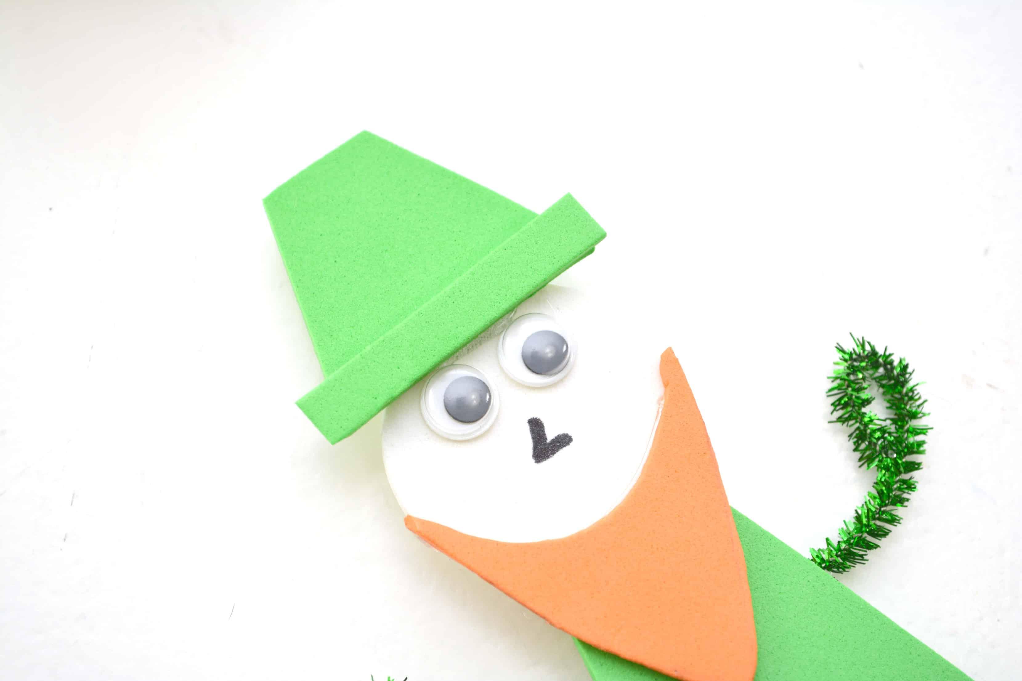 Popsicle Stick Leprechaun Craft