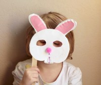 Bunny Craft for Preschool: Paper Plate Bunny Mask