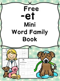 ET CVC Word Family Worksheets -Make a word family book!