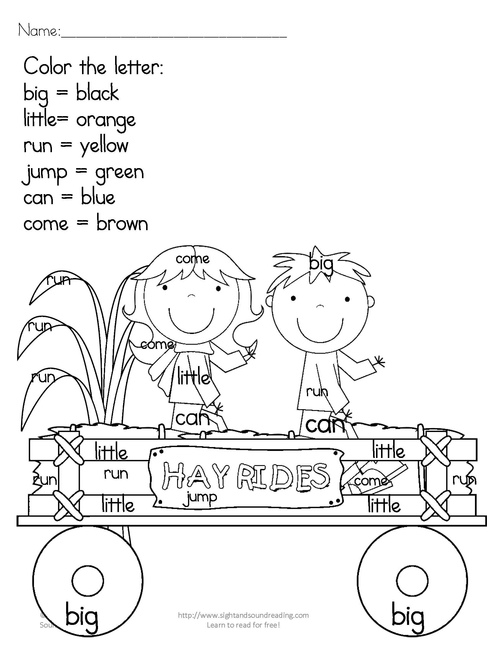 Kindergarten Activity Pack For Fall
