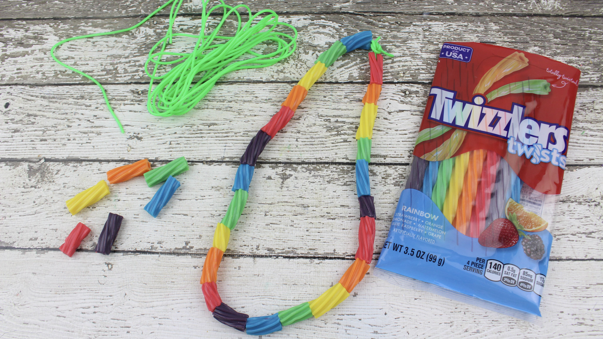 Preschool Rainbow Necklace Craft