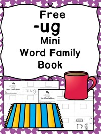 UG CVC Word Family Worksheets -Make a word family book!