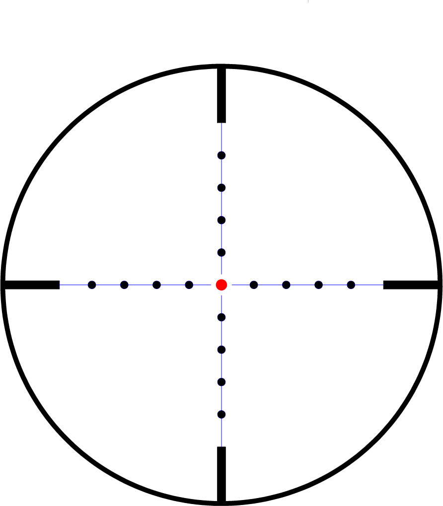 mil dot reticle Gallery