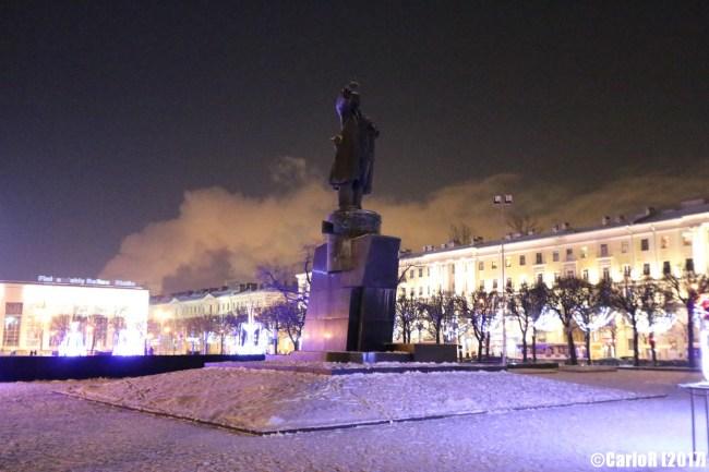 Saint Petersburg Leningrad Finlandia Station Lenin Statue