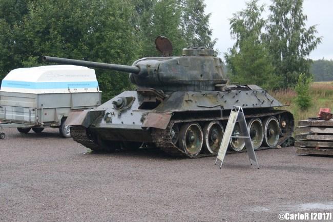 T34 Soviet Tank Tartu Estonia