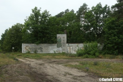 Soviet Memorial 2nd Guard Tank Army Red Banner Abandoned Furstenberg Havel Berlin