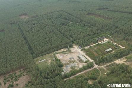 Abandoned Soviet Nuclear Bunker Depot Stolzenhain Objekt 4000 - Aerial View Picture Luftbild