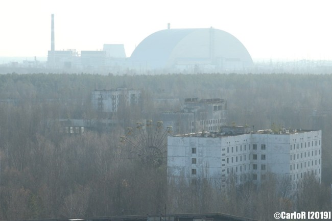 Ghost Town Rooftop Panorama Pripyat Cold War Chernobyl Nuclear Power Plant Exclusion Zone