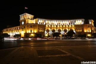 Yerevan Soviet-style stalinist Republic square - Armenia