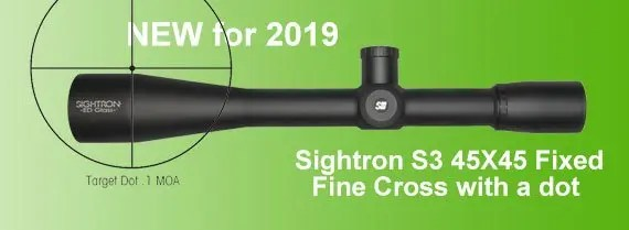 Sightron 45X45 foxed power S3 Riflescopes