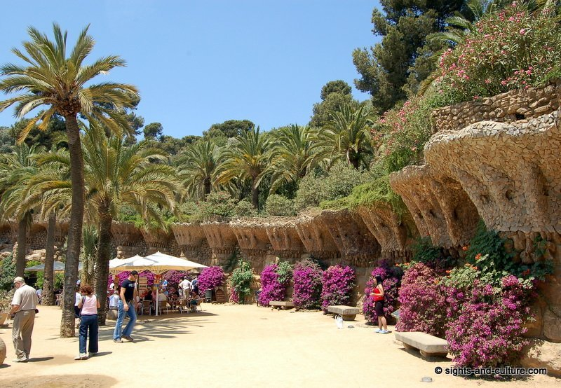 Barcelona Park Guell Terrace With Service Area