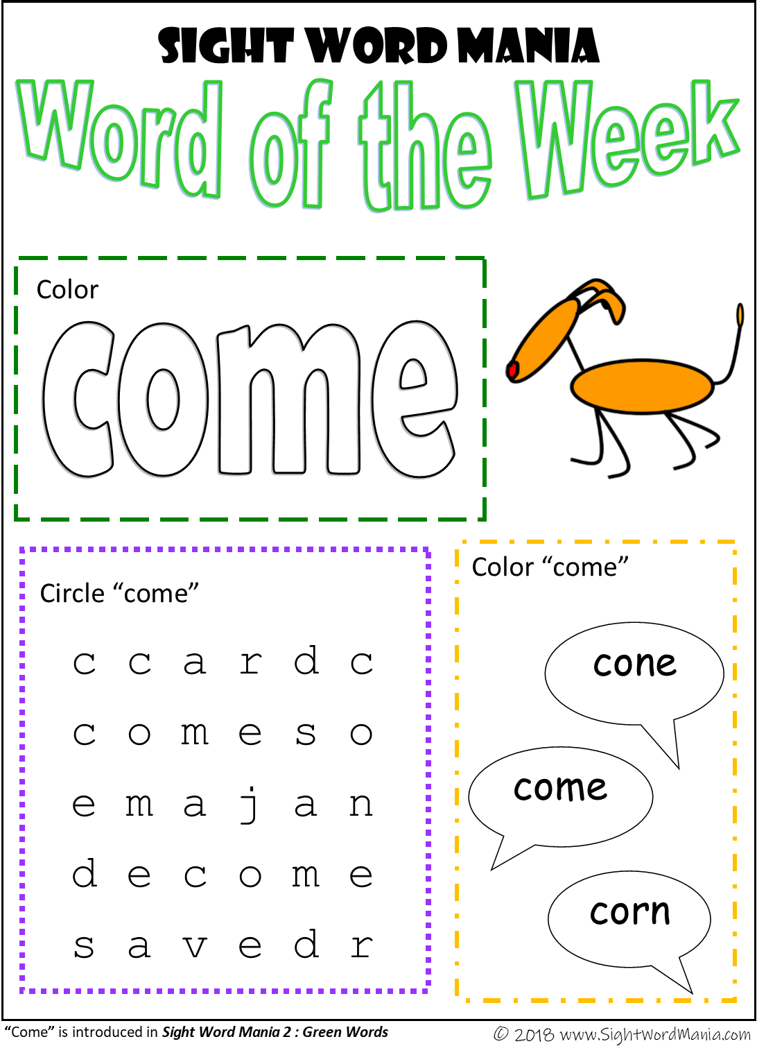 Sight Word Mania