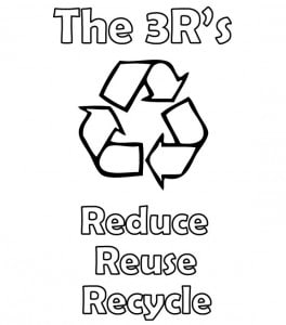 Reduce Reuse Recycle Coloring Sheets Pictures to Pin on